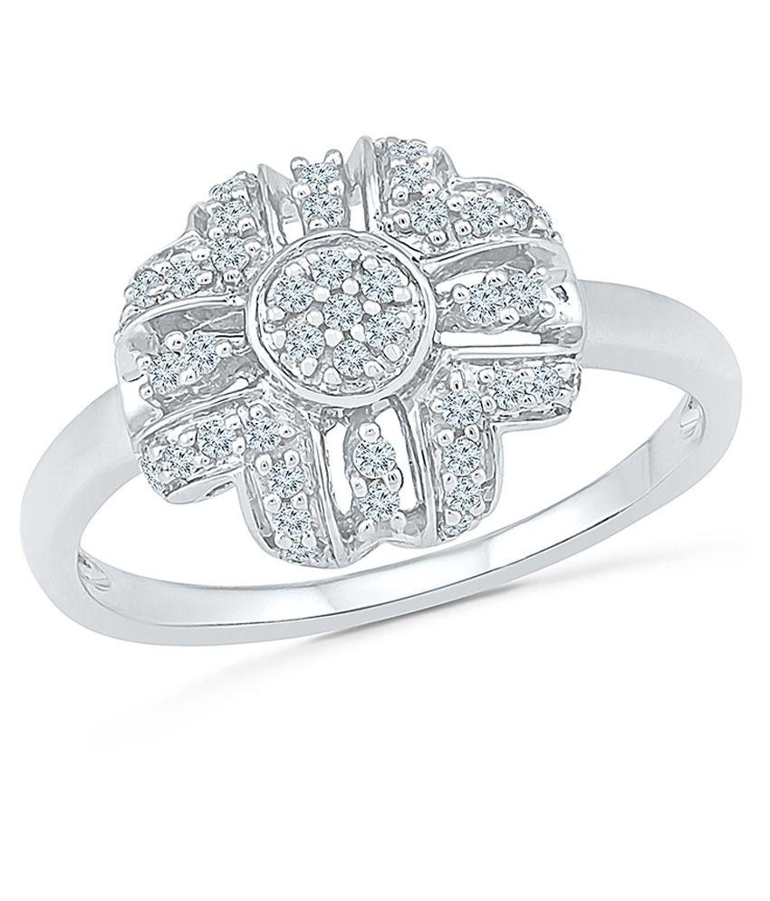 Radiant Bay 18Kt White Gold and Diamond Ring