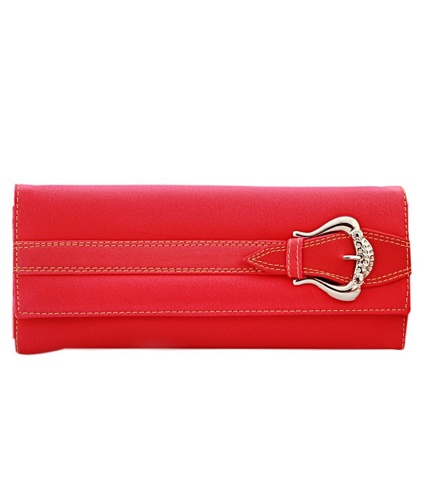 Fieesta Red Leather Long Wallet