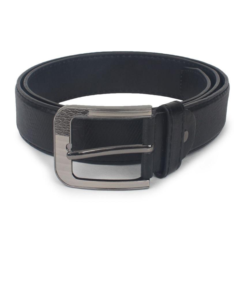 Omnesta Black Casual Belt For Men