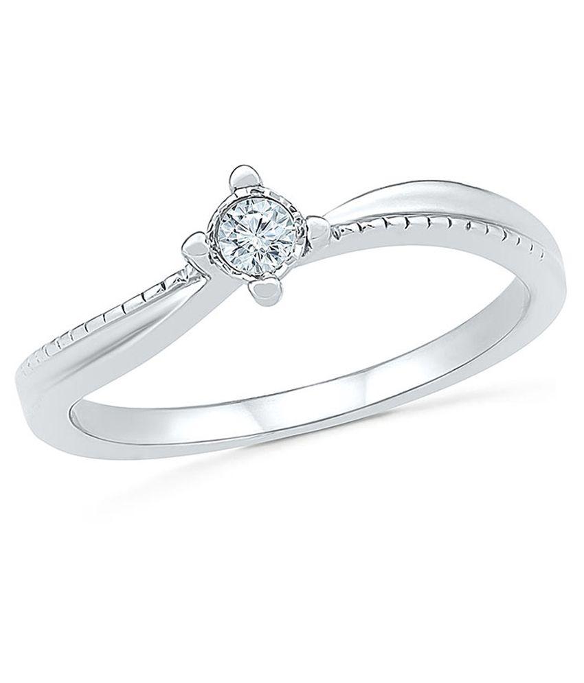 Radiant Bay 18Kt White Gold Diamond EGL Certified Ring