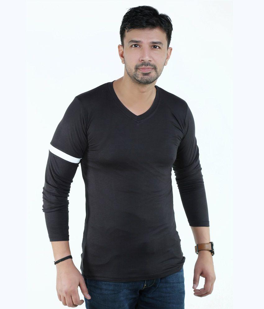 Amusant Black Cotton T-Shirt