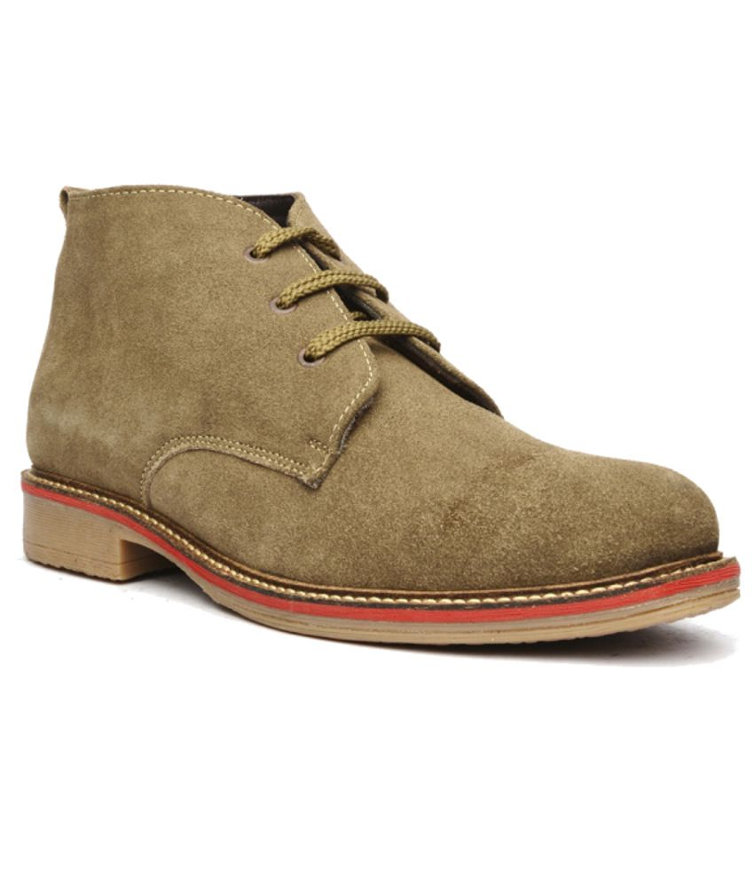 Bruno Manetti Sturdy Beige Boots