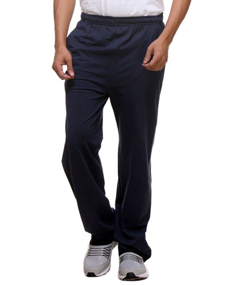 Purys Navy Cotton Trackpants