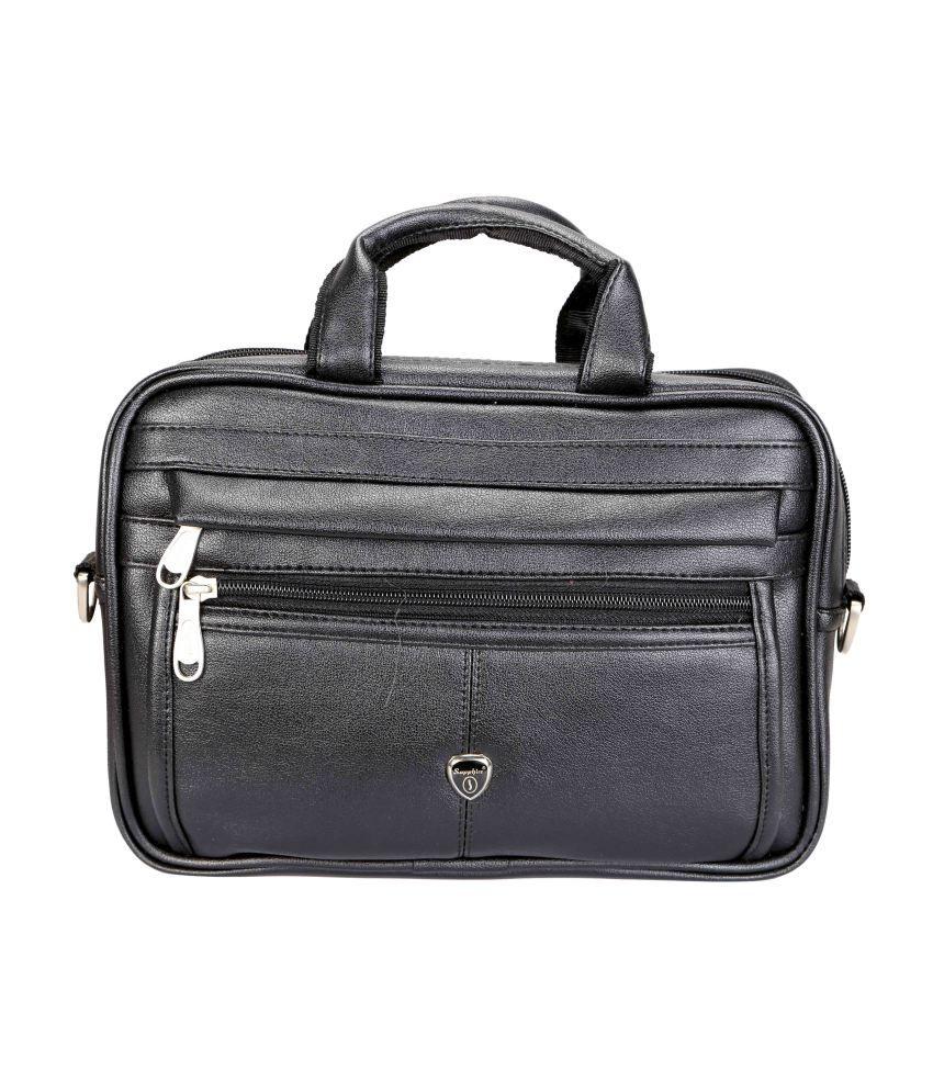 Sapphire Laptop Compatibility Black Messenger Bag