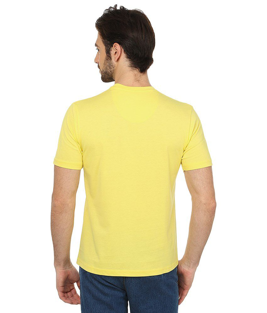 Date And Time Blue and Yellow Cotton Blend T-Shirt - Pack of 2