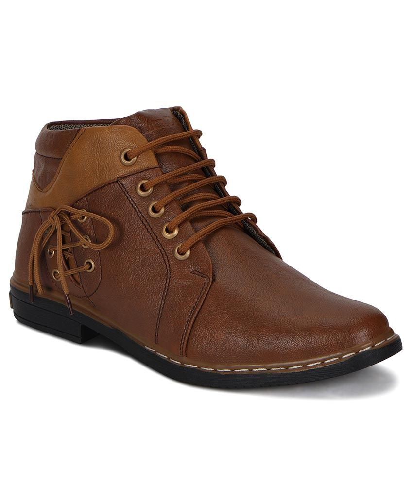 Knight Ace Brown Lace Boots - Pack of 2