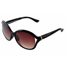 Image Brown Oval Sunglass Size:58-17-140