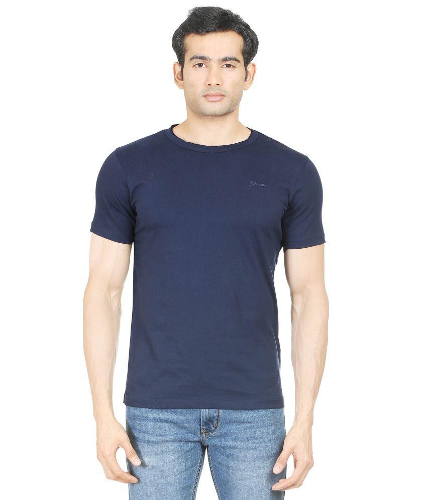 Blumerq Navy Cotton T-Shirt