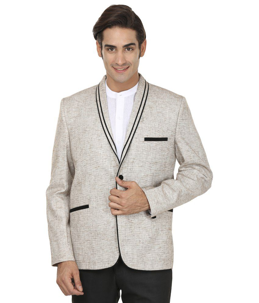 Wintage Basic Appeal Grey Rayon Blazer