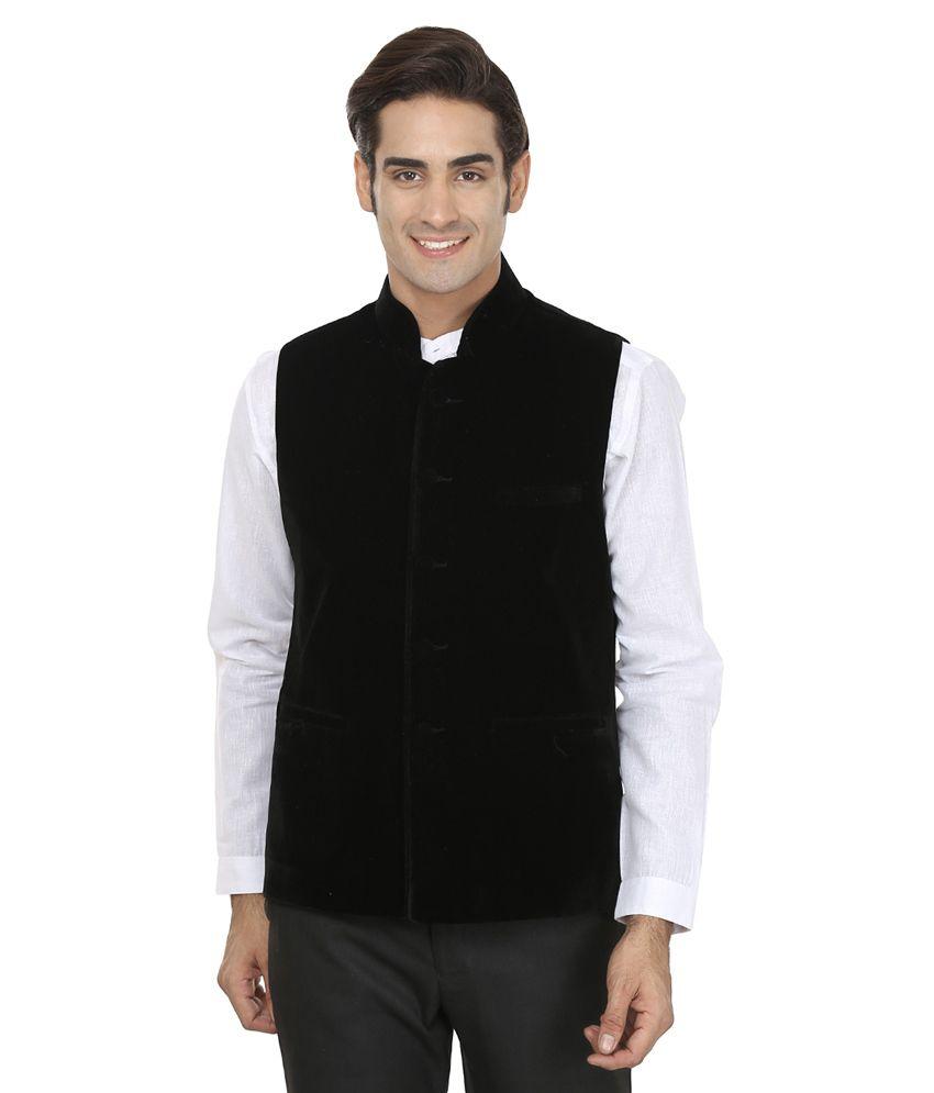 Wintage Black Velvet Waistcoat