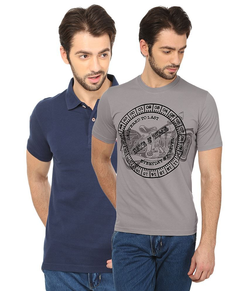 Date And Time Multicolour Basics T Shirt