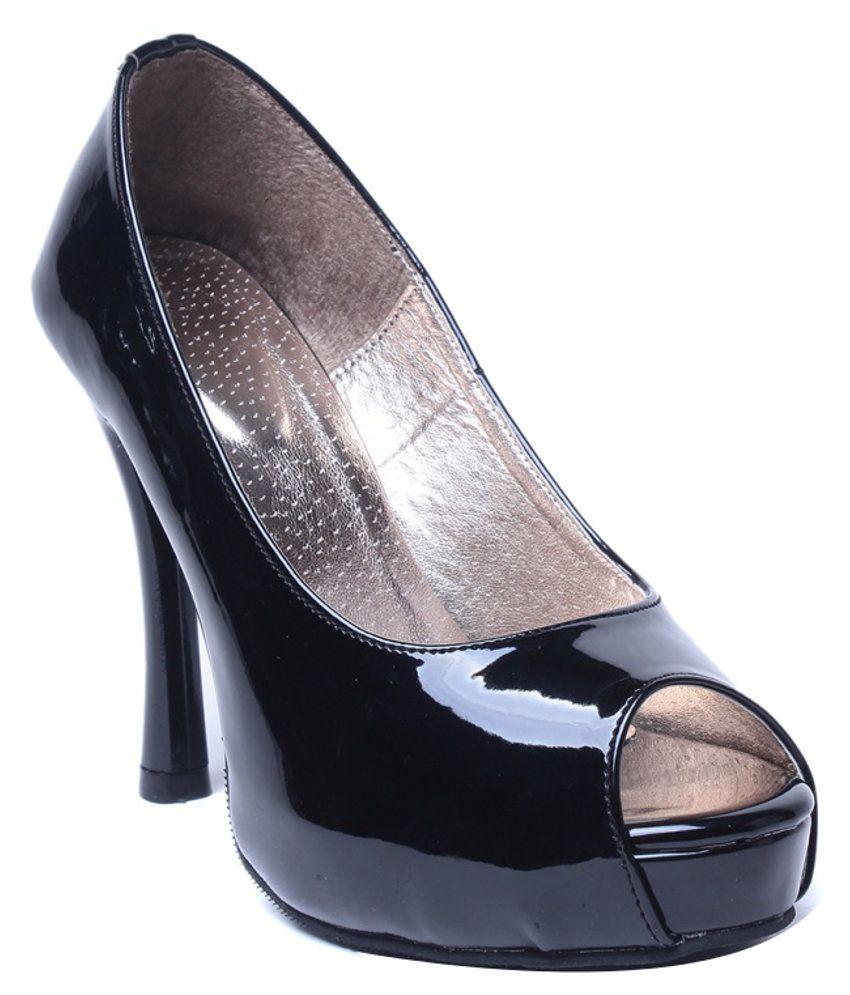 Eliana Fancy Black Heeled Pumps