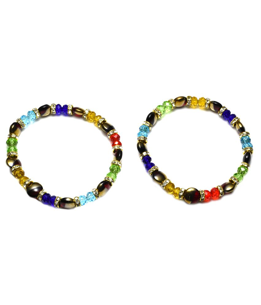 High Trendz Multicolor Brass Anklets