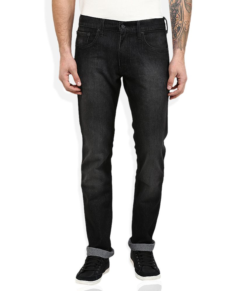 Levi's Black Straight Fit Jeans 65504