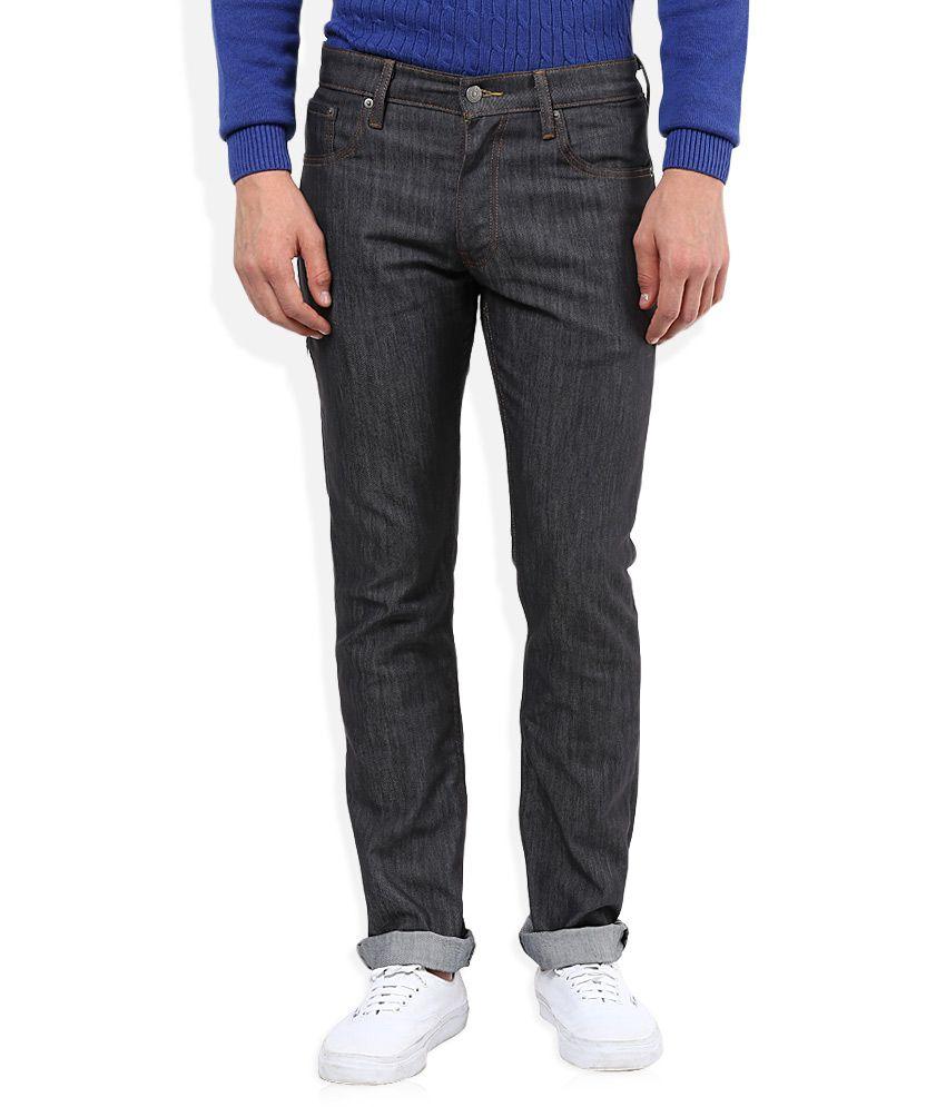 Levi's Grey Dark Wash Slim Fit Jeans 511