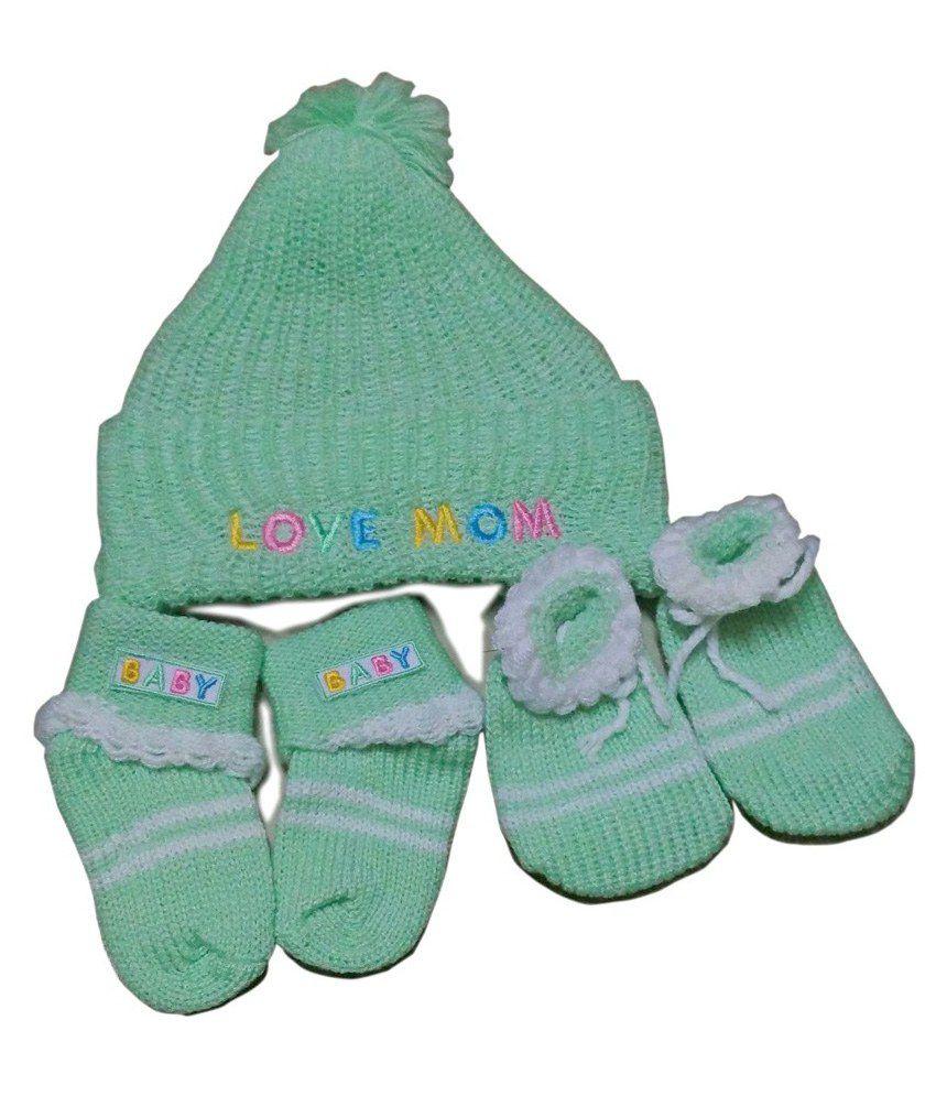 93012c4369d ... Mommas Baby Woolen Set - Cap