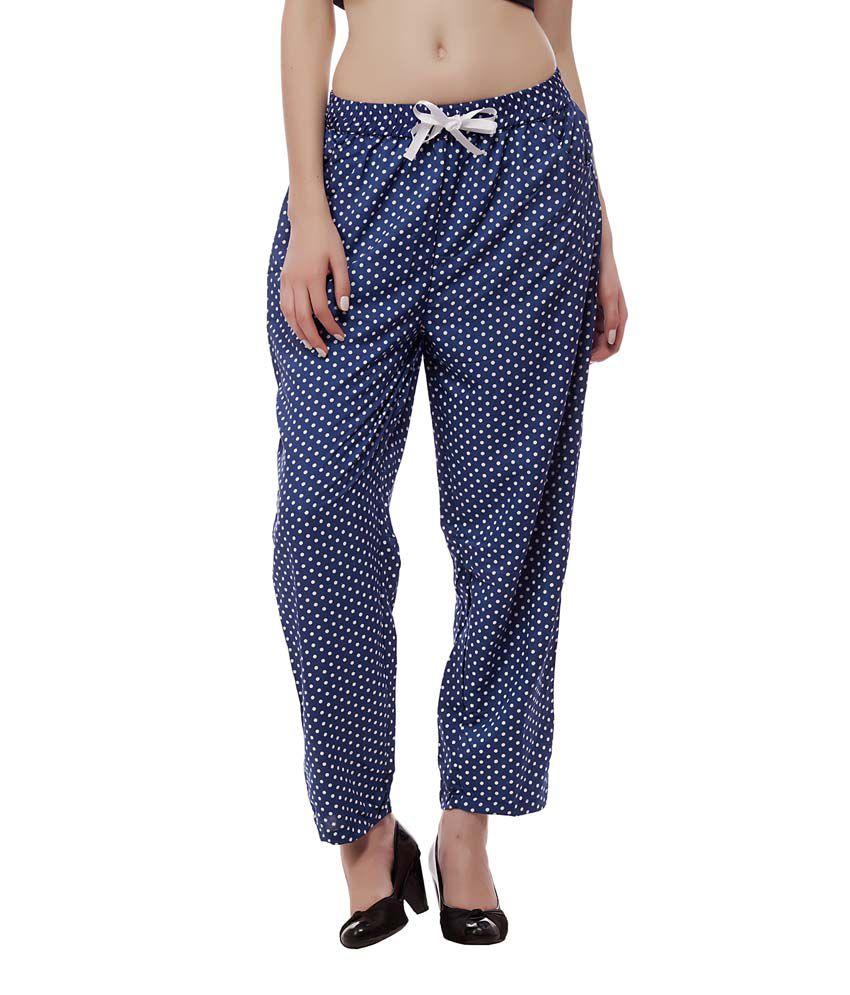Abida Blue Crepe Pajamas