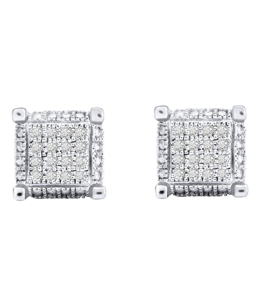 Kataria Jewellers 92.5 BIS Hallmarked Sterling Silver Stud Earrings