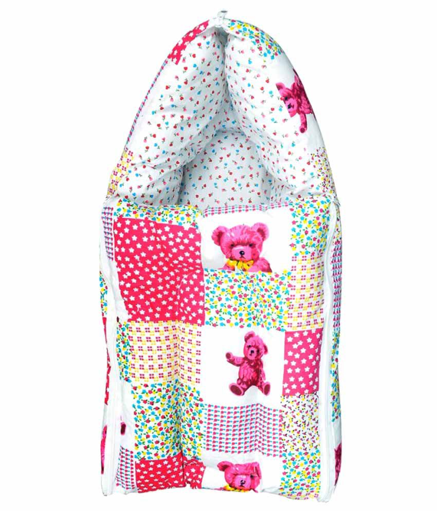 Orange And Orchid Pink Cotton Sleeping Bag