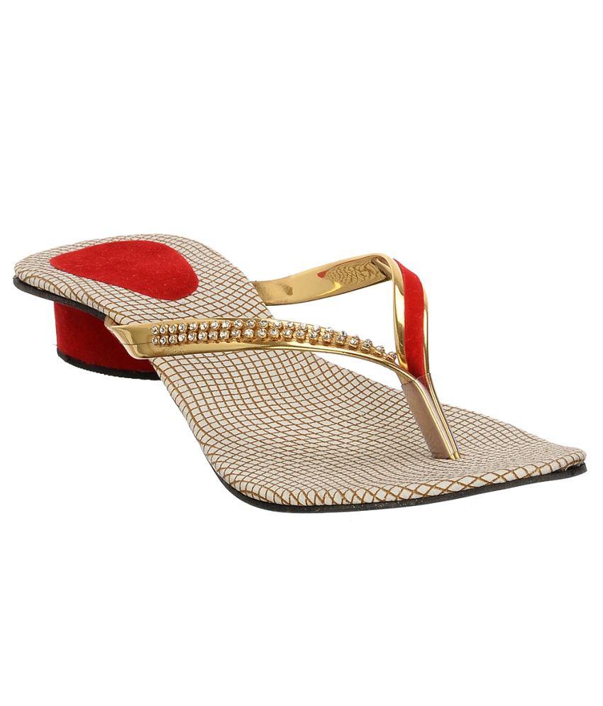 Brandvilla Gold Slip Ons