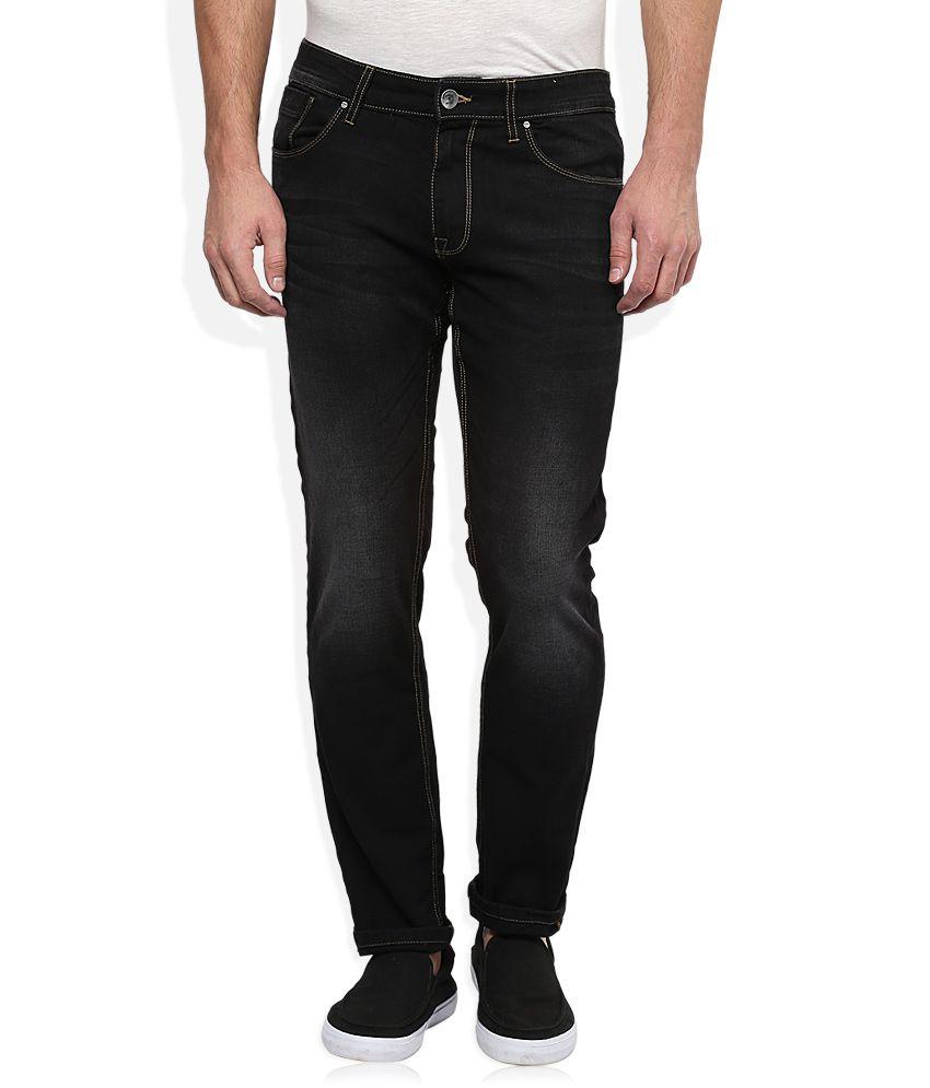 BreakBounce Black Dark Wash Slim Fit Jeans