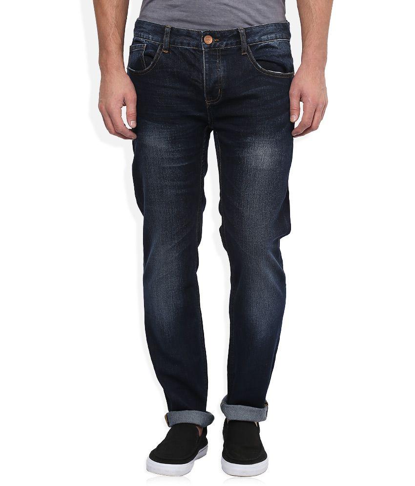 BreakBounce Navy Medium Wash Regular Fit Jeans