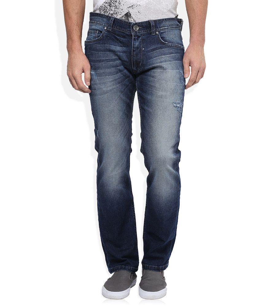 BreakBounce Blue Light Wash Regular Fit Jeans