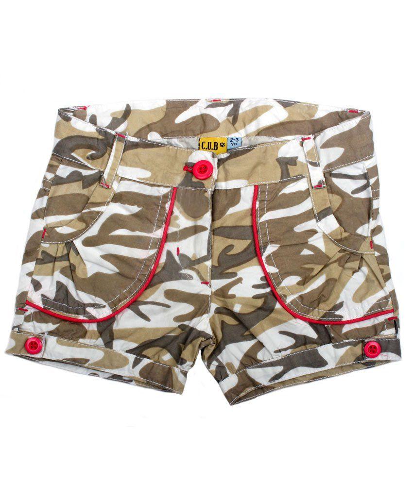 C.U.B Green Shorts For Girls