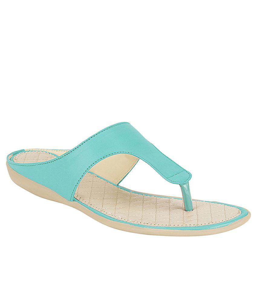 Hanna Turquoise Flat Slip Ons