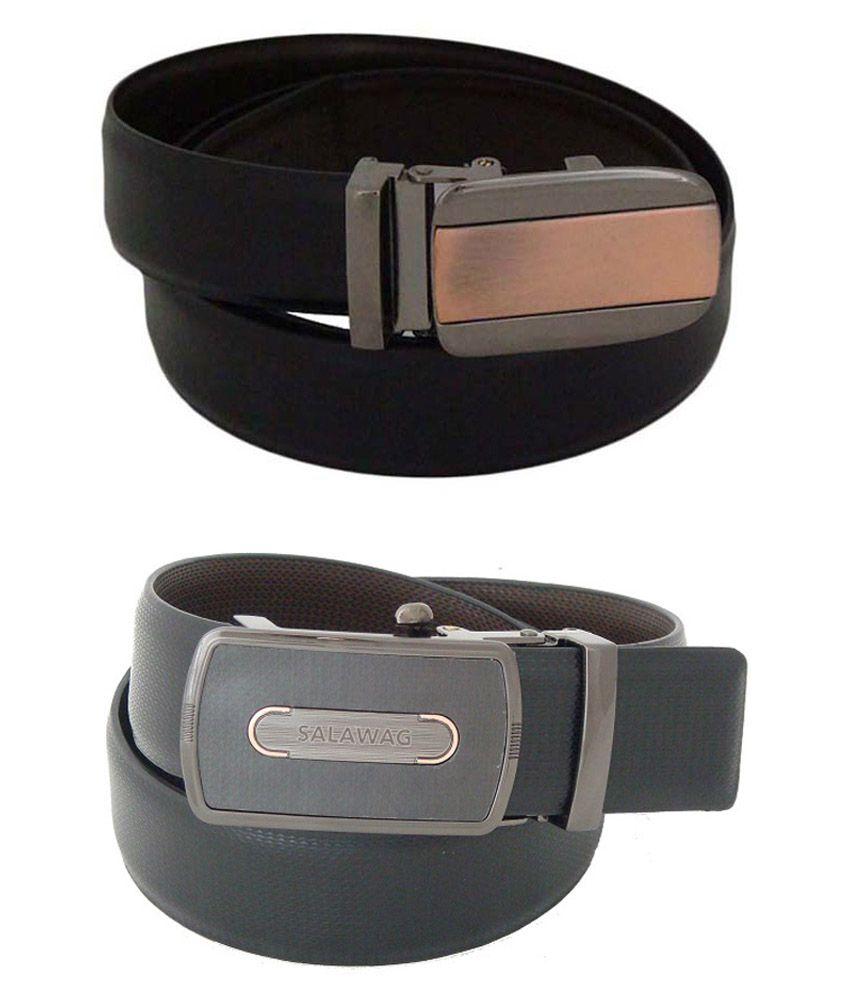 SFA Black Formal Belt - Pack of 2