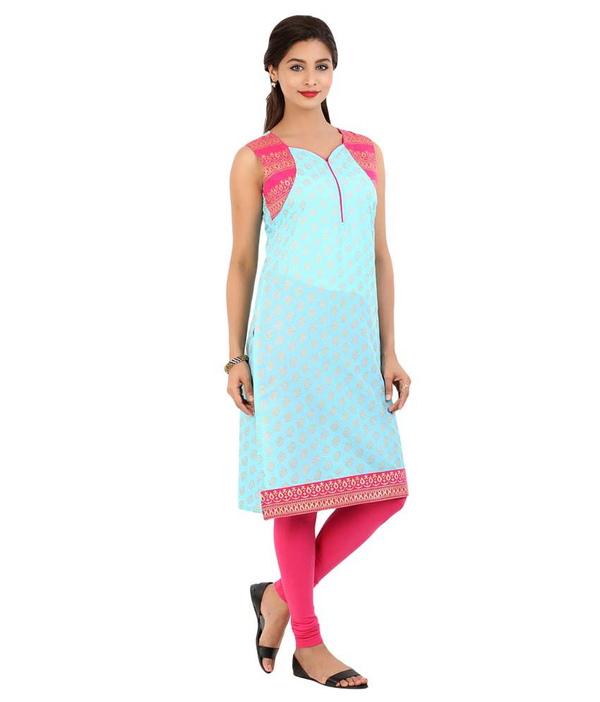 Arshi Blue Cotton