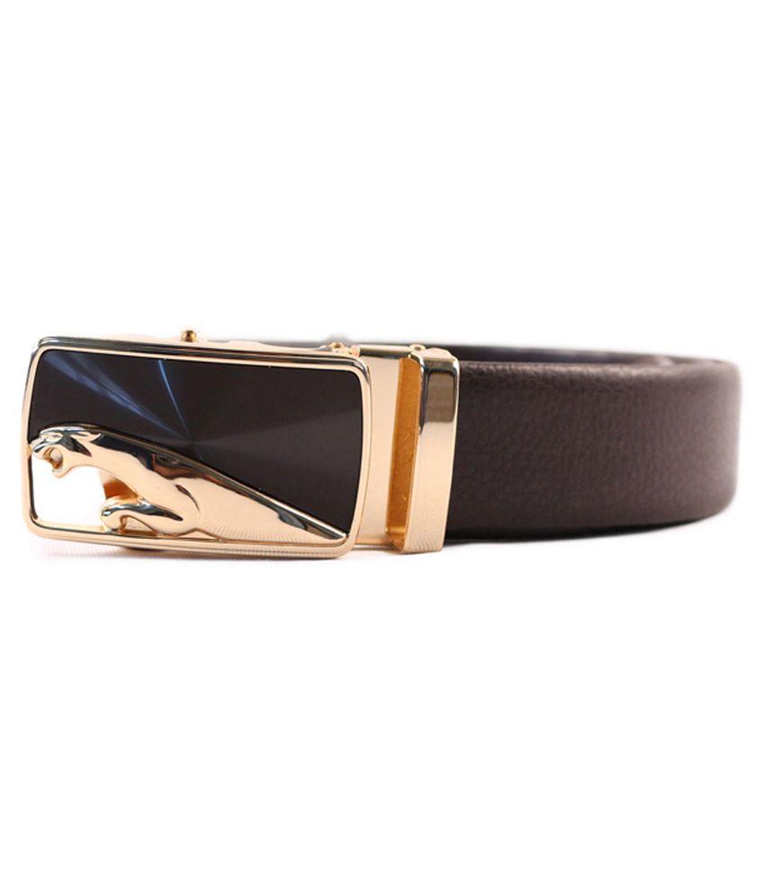 Heaven Deal Brown Leather Formal Belt