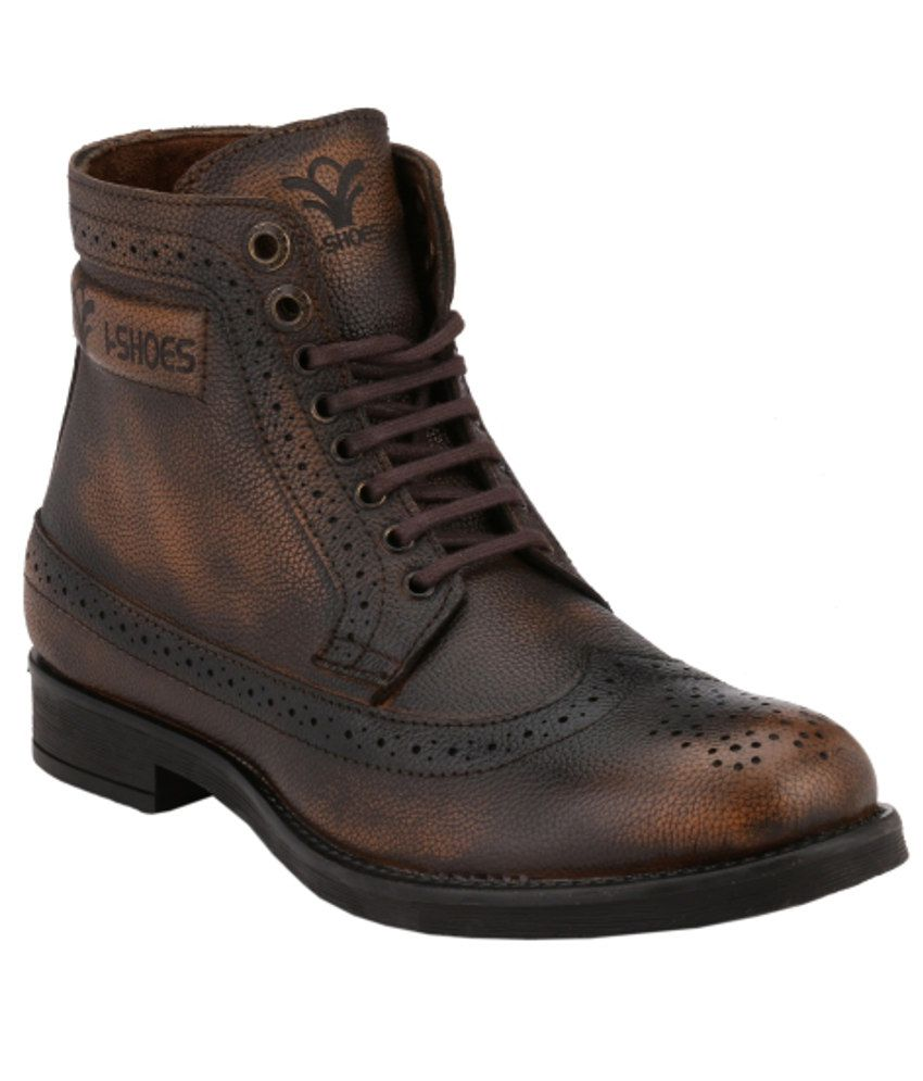 ishoes rugged brown boots available at snapdeal for rs 1777
