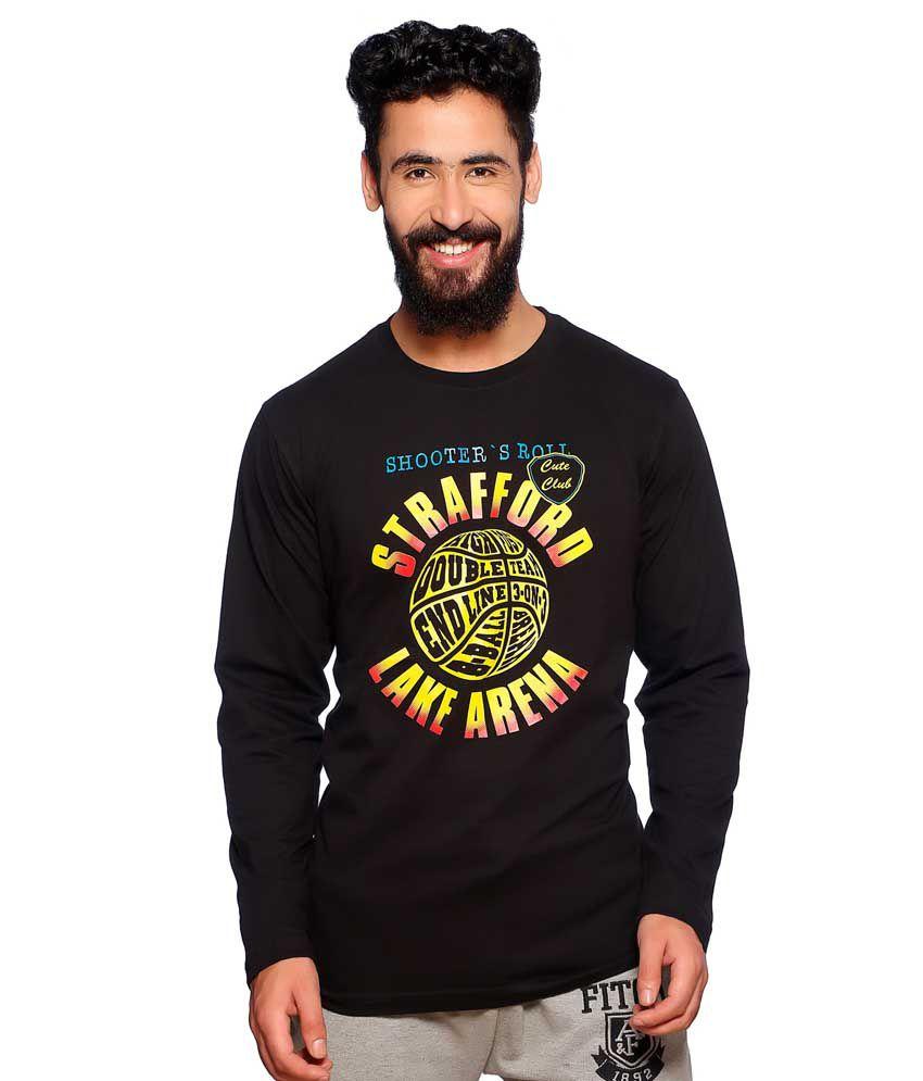 Nucode Black Cotton T-shirt