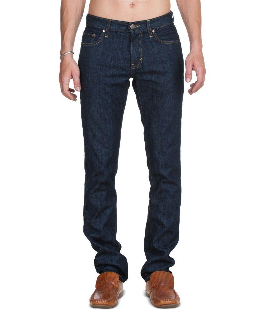 Zovi Navy Cotton Jeans