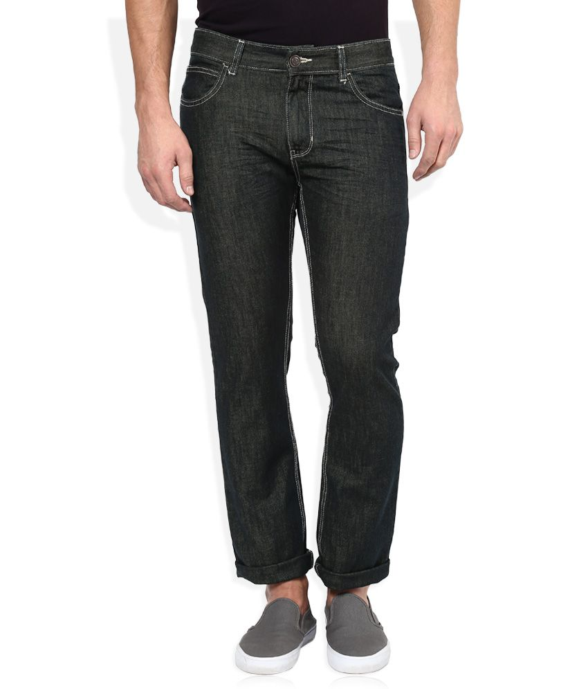 Newport Green Dark Wash Slim Fit Jeans