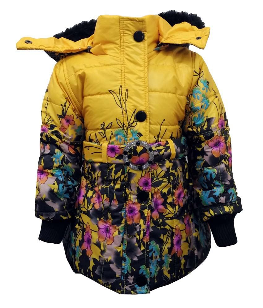 Come In Kids Yellow Nylon Padded Jacket