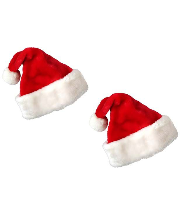 804c1e15ff49e Stonic Red Polyester Christmas Cap - Pack Of 2 - Buy Online   Rs ...