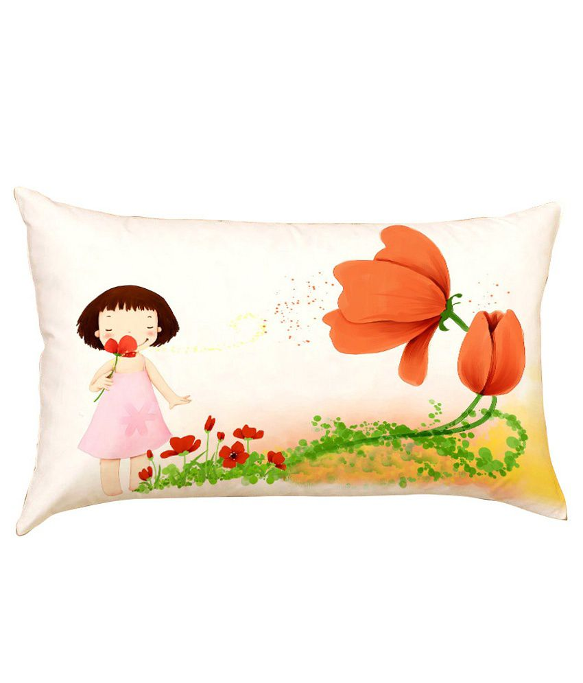 Stybuzz Little Girl With Flower Baby Pillow