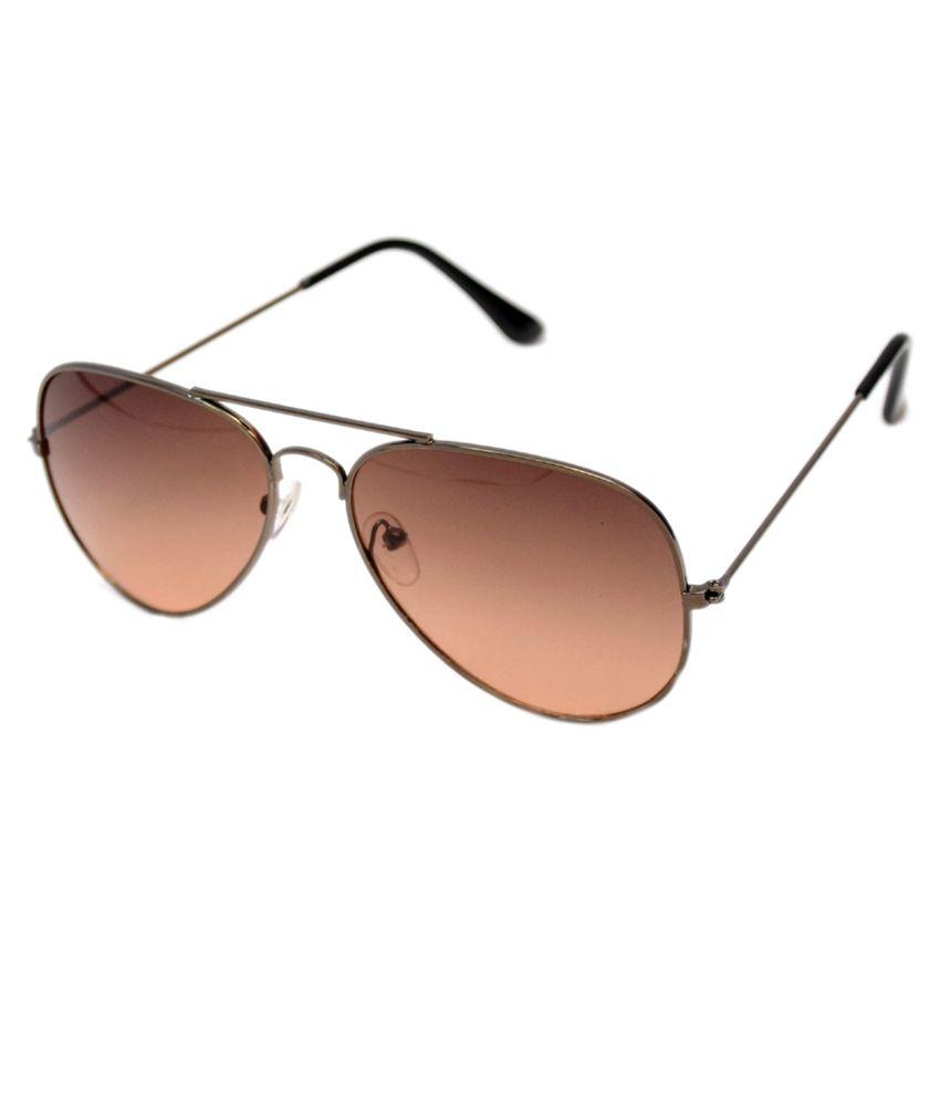 R Looks Brown Lens Aviator Sunglasses