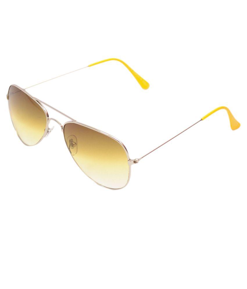 R Looks Yellow Lens Aviator Sunglasses