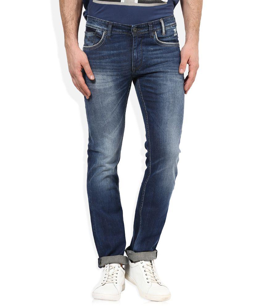 Pepe Jeans Blue Light Wash Slim Fit Jeans