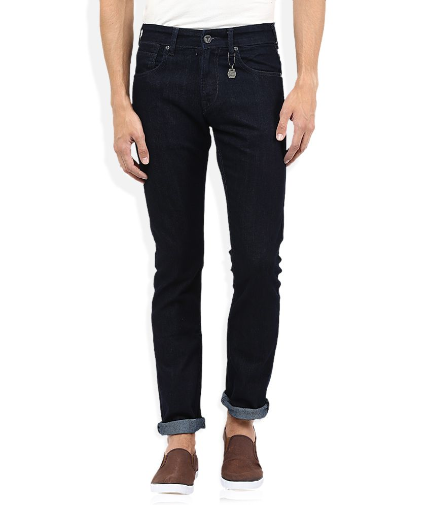Pepe Jeans Navy Raw Denim Slim Fit Jeans