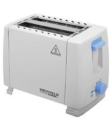Sheffield Classic SH6004SS 2 Slice Pop Up Toaster- White