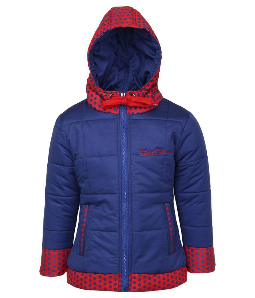Fort Collins Blue Nylon Hooded Jacket
