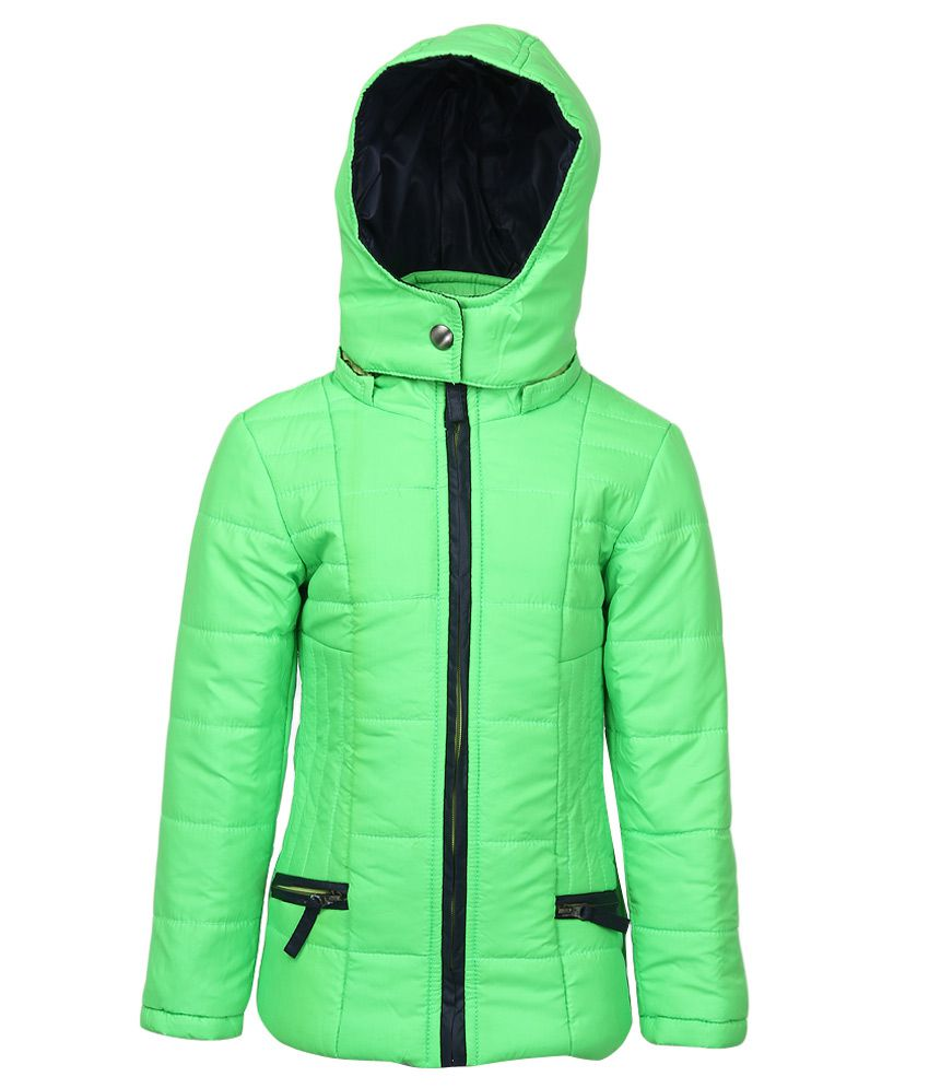Fort Collins Green Nylon Hooded Jacket