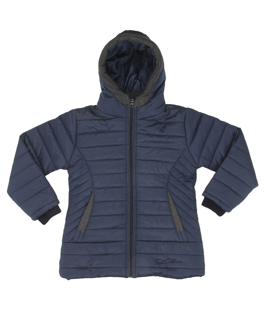 Fort Collins Navy Nylon Hooded Jacket