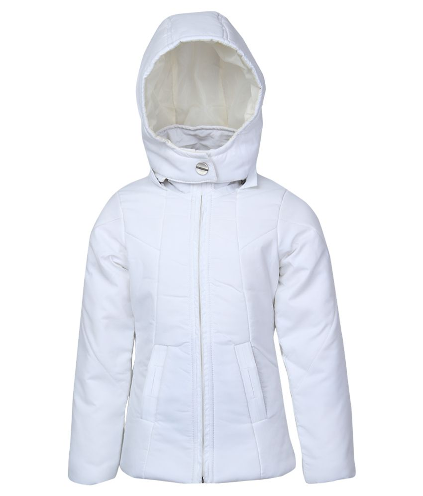 Fort Collins White Nylon Hooded Jacket