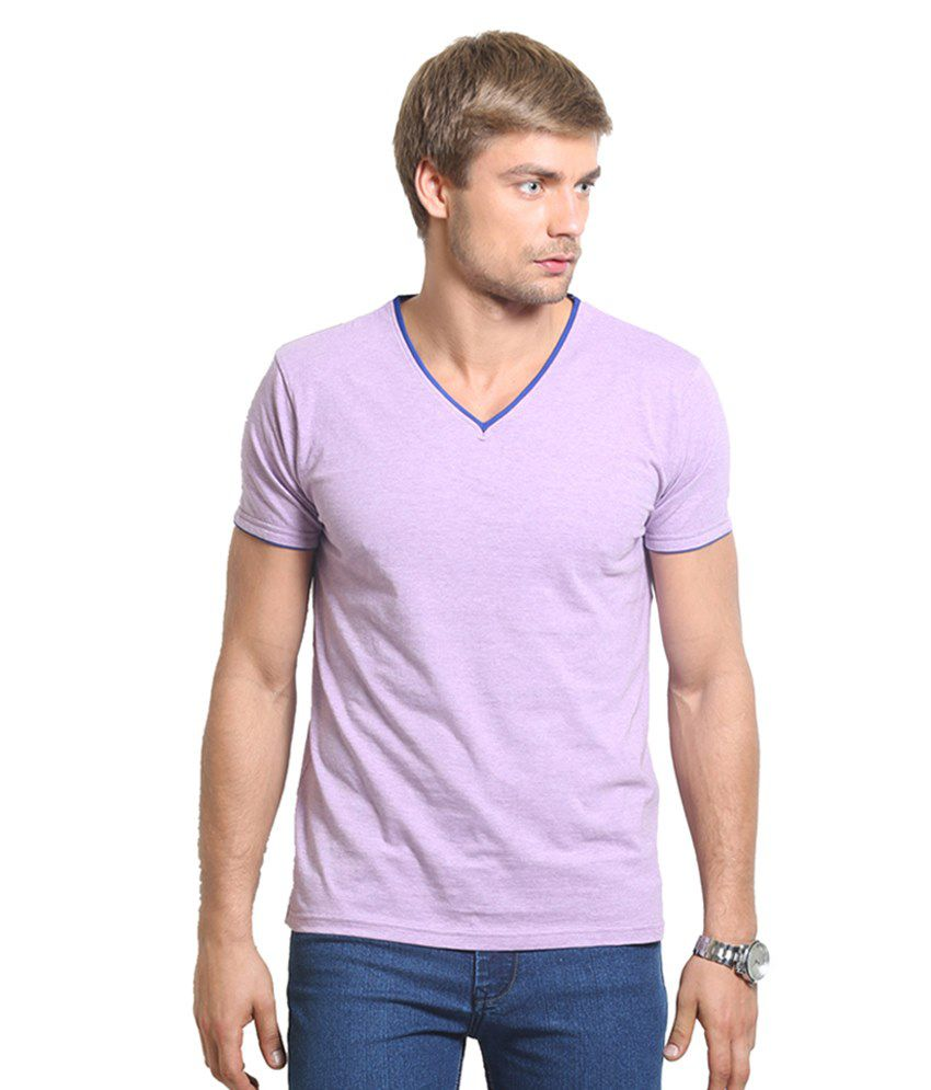 Thisrupt Purple Cotton T-Shirt