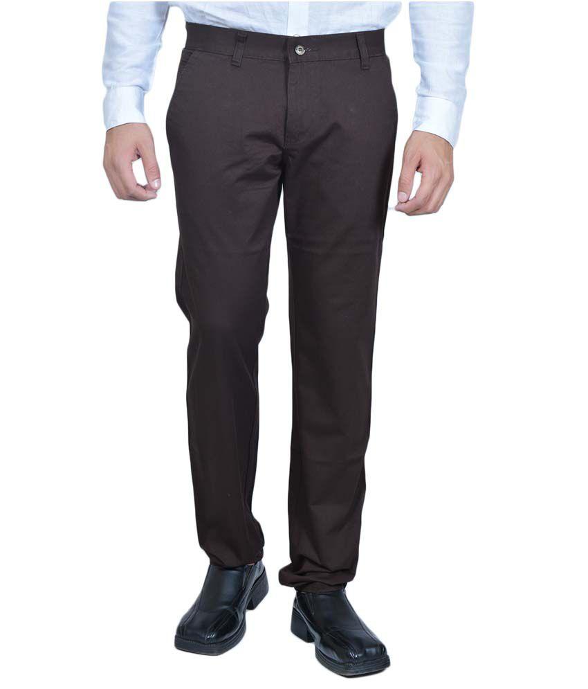 Allen Martin Brown Cotton Trouser